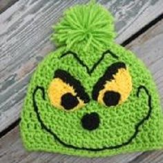 Crochet a Christmas Grinch hat pattern