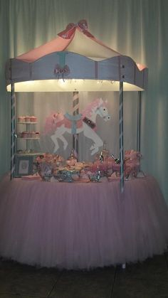 ad #CandyBar #Carousel #TableDecor for #BabyShower #Birthday #GirlBirthday #Horse.  Click link for an idea for a great addition to a carousel-themed party