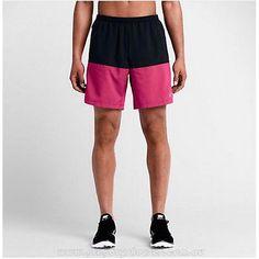 "Mens Sz 2XL Nike Dri-Fit Distance Running Shorts 7"" Vivid Pink/Black 642807 022"