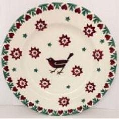 6½ Plate Joy Star - Nieuw! - Pine-apple - Importeur Emma Bridgewater