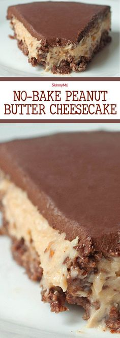 Try our No-Bake Chocolate Peanut Butter Cheesecake! :)