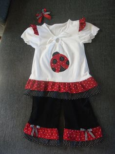Lady bug outfit for my little ladybug!  :)