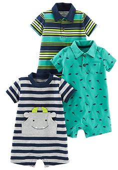 Pack of 3 Simple Joys by Carters 3-Pack Solid Short-Sleeve Tee Shirts Navy//Pink//Gold 2 Years