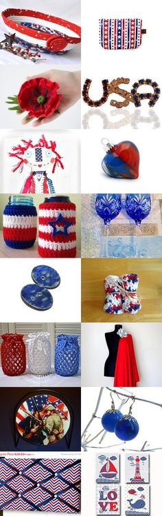 #Memorial #Day! - 1 by ROSE B on Etsy-- #etsy #treasury #red #white and #blue #patriotic #$th of #July #basket #bowl #USA  Pinned with TreasuryPin.com