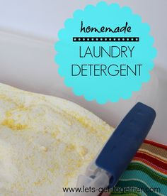 $30 for a year of laundry detergent! #homemade #diy #laundry  www.lets-get-together.com