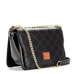 Nobo fekete női táska láncos vállpánttal. Belseje osztás nélküli. – ChiX  Női Cipő- ba61f66bca