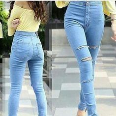"""""Celana jeans ripped haigwaist SV7 Material: denim jeans Harga: 150 Warna: biru muda Order PIN 5A1F32FA & SMS/WA 087722-575-101  Reseller & Dropship Welcome!  Happy Shopping! :) #jamtangan #jamtanganwanita #jammurah #grosirjam #grosirbandung #jamcewek #jamtangancewek #jambandung #jamtanganterbaru #resellerjamtangan #grosirjamtangan #grosirjamtanganwanita #suplierjamtangan #jamtanganartis #olshop #jamfashion #jamoriginal #resellerwelcome #sepatu #celanajeans #sepatubandung Ripped Jeans, Denim Jeans, Super Skinny Jeans, Happy Shopping, Tights, Pants, Fashion, Tattered Jeans, Navy Tights"