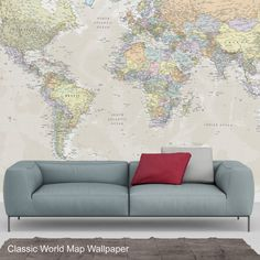 World map wallpaper wallpaper bedrooms and walls world map wallpaper range includes designs that can be featured in any room in your homestrongthis world map wallpaper is available in thirteen gumiabroncs Image collections