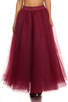 Fun and flirty tulle skirt brightens the day!