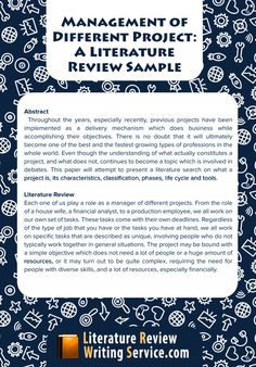 30 Best Literature Review Samples Images On Pinterest