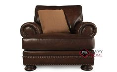Foster Leather Chair with Down-Blend Cushion by Bernhardt in 165-220 at Savvy Home. $1,059.00