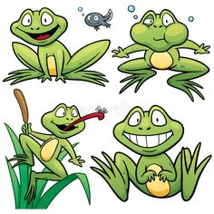 Buy Cartoon Frog by SARAROOM on GraphicRiver. Vector illustration of Cartoon Frog Character Set Frog Pictures, Pictures To Draw, Frog Illustration, Frog Drawing, Cartoon Books, Cartoon Ideas, Frog Theme, Funny Frogs, Frog Art