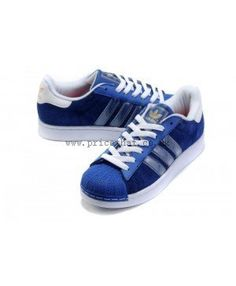 16444d8457 Cheap Adidas Superstar Mens Blue UK Sale T-1030