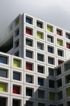 Quadrati architettura colori finestra cubo minimalista