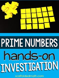 If your students struggle with the idea of prime vs. composite numbers, this hands-on investigation activity into prime numbers may be helpful, especially to the kinesthetic learners in your classroom. Teaching 6th Grade, Fourth Grade Math, 8th Grade Math, Teaching Math, Third Grade, Prime And Composite Numbers, Prime Numbers, Teaching Multiplication, Ks2 Maths