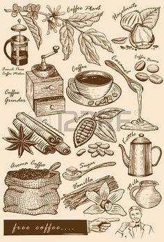 Kolekcja przedmiotów kawiarni photo