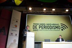 Así han transcurrido las primeras horas de 3 días de festival de periodismo, que se desarrollan en Medellín como homenaje al Maestro Gabo.   Foto: David Estrada Larrañeta/FNPI. — con Jaime Abello Banfi.