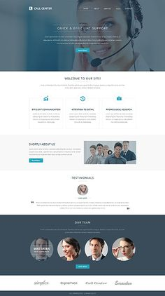 Call Center Support #website #template. #themes #business #responsive