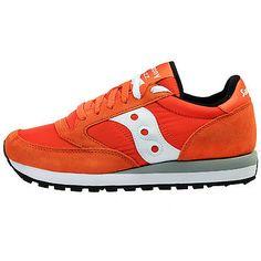 Saucony Jazz Original Mens S2044-341 Orange Athletic Running Shoes Size 10.5