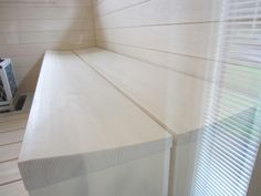 Taloja ja Toiveita: estelle sauna Make It Simple, Tile Floor, Interior Design, Furniture, Sauna Ideas, Saunas, Home Decor, Bathroom, Nest Design