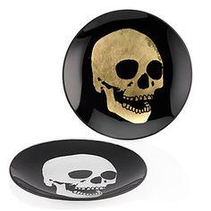 Morton Skull Appetizer Plate - Sets of 4 | Serveware | Tableware | Z Gallerie