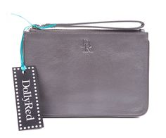 DollyRed Purse from the Harriet range, in pewter leather.
