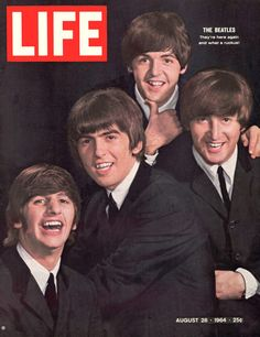 Life Magazine Copyright 1964 The Beatles Here Again - Mad Men Art: The 1891-1970 Vintage Advertisement Art Collection