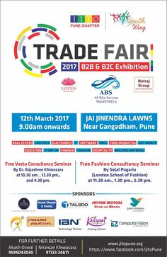 Gear Up !!! Presenting #B2B and #B2C exhibition from the #Youth #JITOYOUTH on sunday 12th March 2017 at Jai Jinendra Lawns, Near Gangadham, Pune City