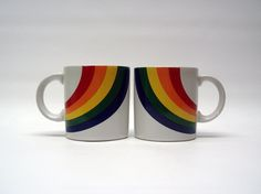 vintage rainbow mugs (I have one of these! maybe it needs some buddies)