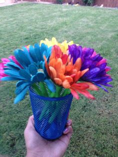 How To Make Flower Pens #craft #easy #school_supplies