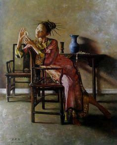 "Lu Jian Jun ""In Lu Jian Jun, China has produced an artist of imagination, a man with a distinctive and unquestionable mast..."