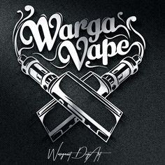 Tuesday #design inspiration, Vape Store #Logo Design, designed by Warganet Digiart.#flatlogo #designhill