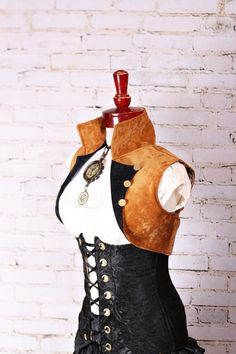 Golden Cropped Vest Size Medium by damselinthisdress on Etsy