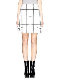 Chloé 'Jupe' check peplum skirt ($410)