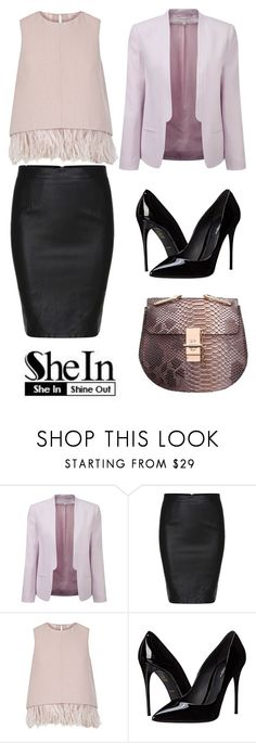 """Black Split Slim PU Skirt by Shein"" by ella178 ❤ liked on Polyvore featuring French Connection, The 2nd Skin Co., Dolce&Gabbana, women's clothing, women's fashion, women, female, woman, misses and juniors"