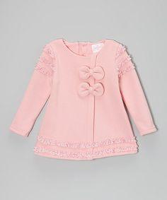 Look what I found on #zulily! Pink Bows Dress - Toddler & Girls #zulilyfinds