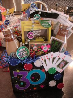 Birthday Basket Gift Baskets 30th Gifts