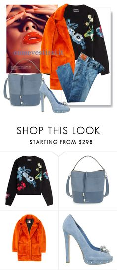 """""""denim passion 2"""" by comevestirsi ❤ liked on Polyvore featuring Anthony Vaccarello, Michael Kors, MSGM, Alexander McQueen and AG Adriano Goldschmied"""