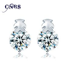 2016 nouvelle 1ct AAA Top Zircon cubique diamant ours en forme de platine Stud boucles d'oreilles 18 K plaqué or Brincos boucles d'oreilles pour les femmes bijoux(China (Mainland))