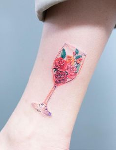 Copa De Vino Tatuajes Tattoos Wine Tattoo Y Watercolor Tattoo