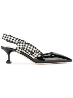 b66113d86af1 Buy Online Miu Miu Gingham Detail Pumps for  690. Purchase Today with Fast  Global Delivery
