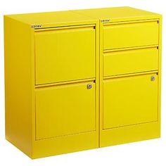 mmmmm....The Container Store > Yellow Bisley® File Cabinets