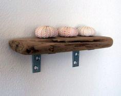 tiny shelf made of driftwood