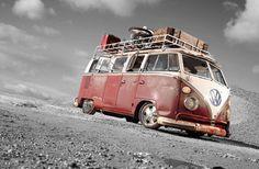 VW Camper Van Canvas Multiple Sizes Available