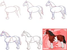 9 - 10 лет / Уроки рисования / Как нарисовать лошадь поэтапно :: Все о детях