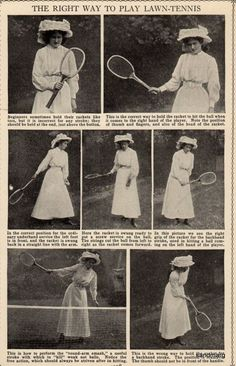 How to Play Lawn Tennis c.1899.