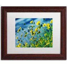 Trademark Fine Art Power in Flower Canvas Art by Beata Czyzowska Young, White Matte, Wood Frame, Size: 16 x 20