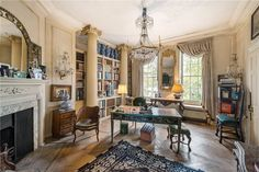 A beautiful study with cascading light and Greco-Roman columns offers a serene place to work. Billionaire Michael Bloomberg just won a bidding war for this historic London mansion