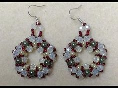 Christmas Wreath Earrings Tutorial