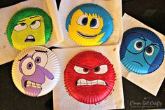 Inside Out Character Masks www.cmongetcrafty.com